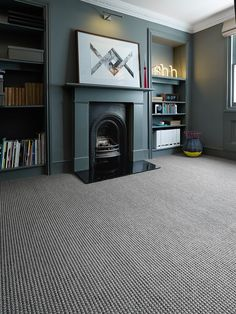 56 Ideas Living Room Neutral Carpet Texture For 2019 Grey Carpet Living Room, Dark Living Rooms, Bedroom Carpet, New Living Room, Living Room Decor, Grey Carpet Hallway, Neutral Carpet, Textured Carpet, Carpet Colors