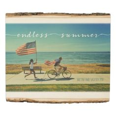 #createyourown #customize - #Endless Summer Typography Family Vacation Photo Wood Panel