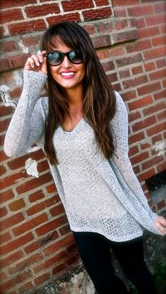 Gray Piko Knit