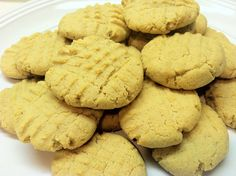Peanut Butter Coconut Flour Cookies 1374 gm for 2 recipes. 44 net carbs/recipe or 88 for 2. Divide 1374 by 40 cookies 35 gm in weight per cookie = 2.2 net carbs per cookie!