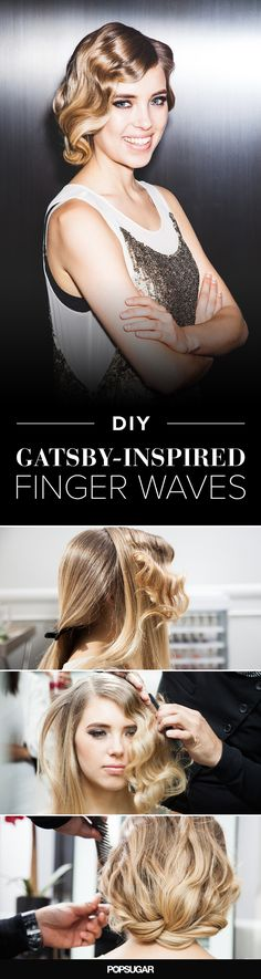 These retro finger waves are actually really easy to do!