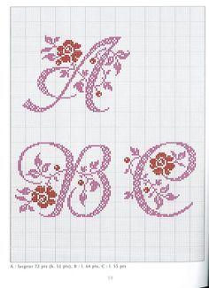 Gallery.ru / Фото #40 - belles lettres au point de croix - moimeme1
