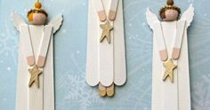 10 DIY kids to make Christmas decorations at homeHave you ever made an angel craft with popsicles? These simple Christmas crafts are perfect for kids! You will love making these homemade Christmas DIY children's Kids Christmas Ornaments, Noel Christmas, Christmas Crafts For Kids, Homemade Christmas, Christmas Projects, Simple Christmas, Holiday Crafts, Christmas Decorations, Angel Ornaments