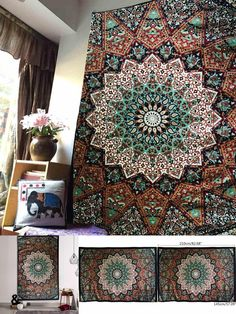 68e55e419d5a  Visit to Buy  Bohemian Wall Hanging Tapestry 210X145cm Indian Mandala  Bedsheets Throw Mat Picnic
