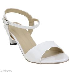 Heels & Sandals Attractive Women's Heels Material: Upper Material - Synthetic Sole Material - Resin IND Size: IND - 3IND - 4 IND - 5 IND - 6 IND - 7 IND - 8 Color: White  Description: It Has 1 Pair Of Women's Heel Sandals Country of Origin: India Sizes Available: IND-8, IND-3, IND-4, IND-5, IND-6, IND-7   Catalog Rating: ★4 (1910)  Catalog Name: Stylish Women's Heel Sandals Vol 6 CatalogID_579636 C75-SC1062 Code: 673-4080473-997