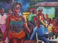 Peinture A L Huile Sur Toile Du Peintre Congolais Kinshasa Shula Detail Democratic Republic Of The Congo Republic Of The Congo Central African