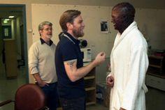 George Lucas, Ewan McGregor, Hayden Christensen Revenge of the Sith