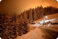 Peisaj de poveste - drumul spre Straja Veche la ceas de seara Drum, Snow, Holiday, Outdoor, Outdoors, Vacation, Holidays, Outdoor Games, Outdoor Life