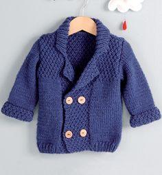 Modèle veste double boutonnage bébé - Modèles Layette - Phildar