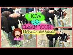 How to clean your Makeup Brushes - #makeupbrushes #cleanbrushes #simplyanais - Bellashoot.com (iPhone, iPad & Web)