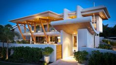 Impressionnante maison contemporaine conçue comme un hôtel de luxe, Applecross House par Brian Burke Homes - Perth, Australie #construiretendance