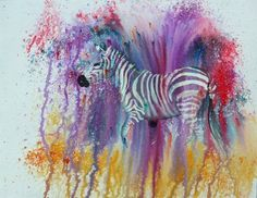 Brusho Zebra - Polly Birchall