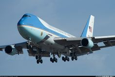 Air Force One...would do touch and go's at Newport News/williamsburg airport. We lived in the flight path. We literally saw the plane fly over this low...such a privilege. I cried every time it flew over.
