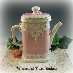 Whimsical Bliss Studios - Sq. Victorian Tea/Coffee Pot