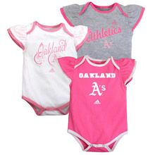 Oakland Athletics Infant 3 Piece Bodysuit Set by adidas