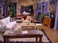 Monica's apartment on Friends 6. Poster was used t ohide a hole in the wall that cameras often filmed through.