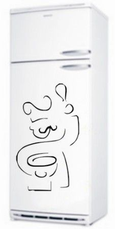 Adesivo em vinil decorativo geladeira - Vinil Decor