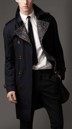 Mid-Length Cotton Gabardine Wool-Lined Trench Coat | Burberry