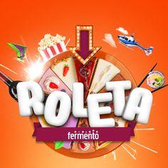 Roleta de Aniversário - Fermento Promo on Behance Graphic Design Posters, Graphic Design Inspiration, Game Design, Logo Design, Interactive Web Design, 3d Typography, Game Logo, Cool Logo, Picture Design