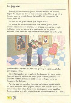 Libros de Primaria de los 80's: Los juguetes - Español Ej. y Lec. 4to grado