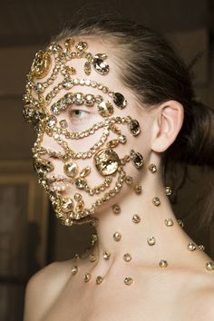 Bejeweled face at Givenchy Spring 2016
