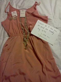 Too stinkin cute. A date planned AND you don't even have to spend hours picking out an outfit for it! Mr. Perfect!
