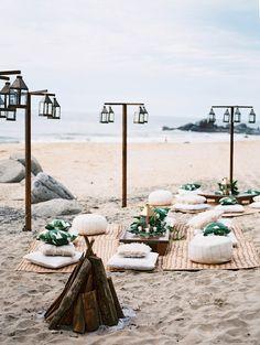 A Laid-Back Beach Wedding in Sayulita, Mexico - Wedding - Beach Bbq, Beach Bonfire, Beach Picnic, Beach Party, Beach Wedding Reception, Beach Wedding Decorations, Hawaii Wedding, Beach Wedding Inspiration, Wedding Ideas
