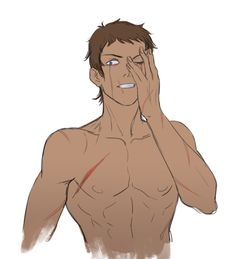 I am really into Lance being all scared and scratched up...