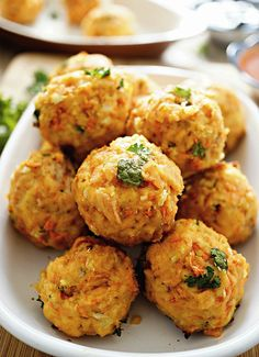 Salmon Meat Balls (I used canned salmon and GF bread crumbs and skipped the cilantro and it worked pretty well. They were tasty morsels. Definitely not perfect ball shapes, but they held together okay. Great with rice, kale, and cocktail or siriacha mayo for dipping.