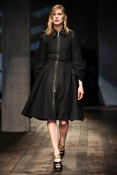 Zipper, oversized cuffs. Prada Fall 2013 RTW Collection - Fashion on TheCut