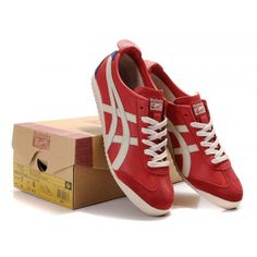 Women Mexico ASNO618 Shoes Red White Navy Blue - Onitsuka Tiger Womens Mexico 66