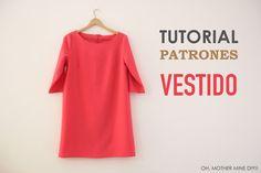DIY, patrones, ropa de bebe y mucho más para coser.: DIY Patrones y Tutorial: Vestido Rojo Básico