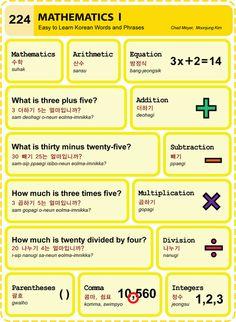 224 Learn Korean Hangul Mathematics 1