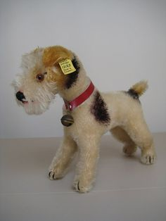In my #ETSY Shop: #Steiff Vintage Fox #Terrier Foxy – Rare 1949 ONLY – EAN 1318,0 – US Zone - 65 Yrs Old and Looking So Handsome!