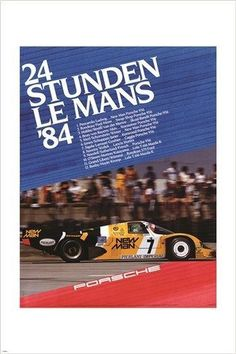24 STUDEN LE MANS '84 vintage car poster racy hot COLLECTORS 24X36