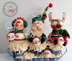 Felt Wreath, Cold Porcelain, Biscuit, Diy And Crafts, Santa, Mary, Christmas Ornaments, Holiday Decor, Winter