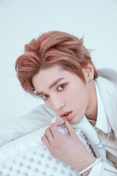K-pop star Taeyong of NCT tells Allure all about his ever-changing hair and makeup, including the ways beauty reflect's the music of NCT and its subunits NCT U and NCT Taemin, Shinee, Nct 127, Lee Taeyong, Winwin, Jaehyun, Vampires, Ntc Dream, Les Bts