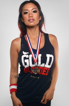 The Gold Blooded Stars and Stripes Edition Tank Top by Adapt, $34