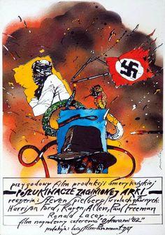 RAIDERS OF THE LOST ARK de Steven Spielberg (1980) #polonaise #polish #poster #affiche #pologne #poland #spielberg #film #american #americain