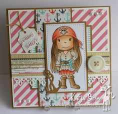 Pirate Patty  made by Paper Nest Dolls Rubber Stamps & sold individually. Items can be purchased in my ebay Store Pat's Rubber Stamps & Scrapbooks or call me 423-357-4334 with order, or come by 1327 Glenmar Ave. Mt Carmel, TN 37645, Pat's Rubber Stamps & Scrapbook supplies 423-357-4334. We take PayPal. You get free shipping with the phone orders of $30.00 or more