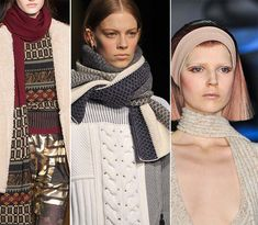 Fall/ Winter 2014-2015 Accessory Trends: Knitted Scarves  #scarves #accessories