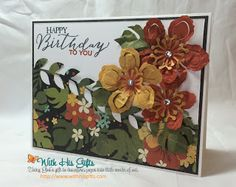 Botanical Birthday Card
