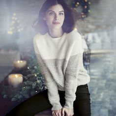 Chunky Loop Stitch Sweater | The White Company US. A really tactile treat to cozy-up in this Winter, our new textured sweater uses loop stitching to create depth and interest. Shopping from the UK? -> http://www.thewhitecompany.com/Chunky-Loop-Stitch-Jumper/p/CLCSJ?swatch=Porcelain