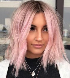 Light Pink Hair, Pastel Pink Hair, Pink Wig, Hair Color Pink, Hair Colors, Pink Short Hair, Rose Pink Hair, Pink Blonde Hair, Ombre Hair