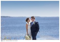 Anna and Chris at the beach during their Point Lookout Northport Maine wedding