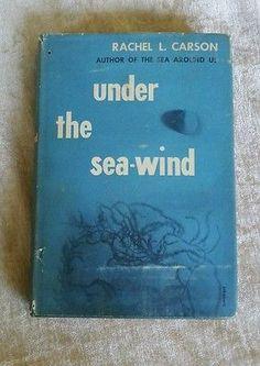 Under the Sea-Wind by Rachel L. Carson Vintage 1952 HCDJ Ocean Marine Life