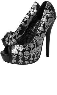 Iron Fist Hangman Heels - #skulls high heels