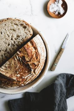 """Reines Dinkel-Sauerteigbrot Homebaked bread is one of those """"simple things in life"""" for us, and our pure spelled sourdough bread may well be one for you. Grill Breakfast, Breakfast Sandwich Recipes, Gourmet Breakfast, Breakfast Waffles, Homemade Breakfast, Vegan Baking, Bread Baking, Kenwood Cooking, Ideas"""
