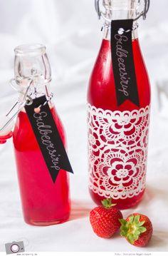 Erdbeersirup selber machen ganz einfach mit MrsBerry's Rezept | für leckere selbstgemachte Erdbeerlimonade | weitere Rezepte mit Erdbeeren und Limonaden
