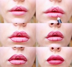 She Starts By Sketching Simple Shapes Onto Her Lips. A Few Lines Later...STUNNING! - Answers.com
